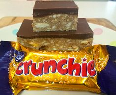 Chocolate Crunchie Slice - includes a version to make in the Thermomix Fudge Recipes, Candy Recipes, Baking Recipes, Sweet Recipes, Dessert Recipes, Nutella Recipes, Baking Ideas, Chocolate Recipes, Yummy Recipes