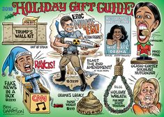 For your Christmas cartoon pleasure, we offer you our annual Holiday Gift Guide. A Trump wall toy might hold the attention of the kiddies for a while, but not Congress. It has been two years and Political Cartoons, Political News, Holiday Gift Guide, Holiday Gifts, Tea Party Movement, Ben Garrison, Trump Wall, Crooked Hillary, Christmas Cartoons