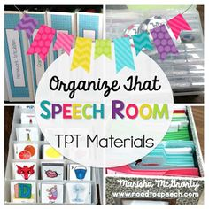 organize your speech therapy materials with these great ideas!!