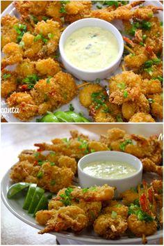 Páscoa? Camarão  Crocante,  no espeto,  servido com maionese caseira e cebolinha,  é uma daquelas receitas japonesas com cara de praia, com gosto de quero mais   Também conhecido como pipoca de camarão, popcorn shrimp, tamanha  crocância.