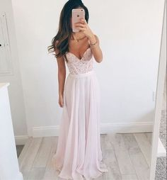 Pink Sweetheart Prom Dress,A-line Lace Long Prom Dresses,formal Dresses,evening Dresses#promdress#graduationdress#eveningdress2020#dress#dresses#gowns😄
