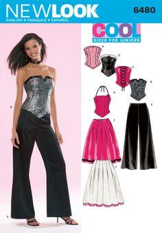 NL6480 Corset Top & Pants & Skirt
