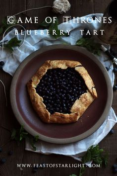 Samwell's blueberry tart from The Game of Thrones.