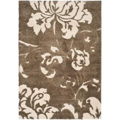 Florida Shag Smoke/Beige (Grey/Beige) 5 ft. 3 in. x 7 ft. 6 in. Area Rug
