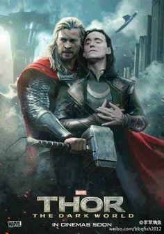 Thor and Loki: fandom-made bromance :) BAHAHAHAHAHAHHAHA