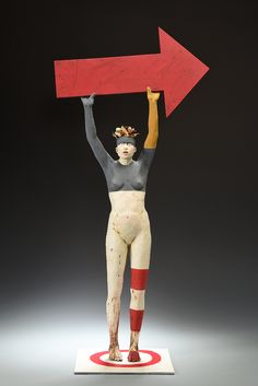 red - figurative sculpture - Nancy Kubale