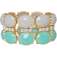 Humble Chic Sea Stones Bracelet ($38) ❤ liked on Polyvore