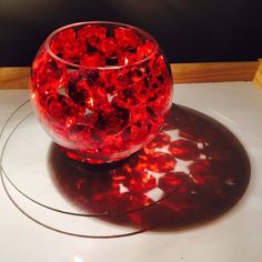 Ruby Red Centerpiece Red Centerpieces, Ruby Red, Punch Bowls, The Selection, Bead, Diamond, Collection, Pearl, Beads