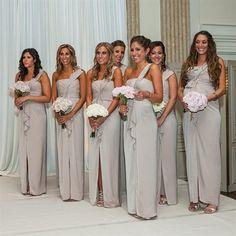 Long sheath one shoulder front slit bridesmaid dresses, Cheap bridesmaid dresses, Popular bridesmaid dresses, PD210450