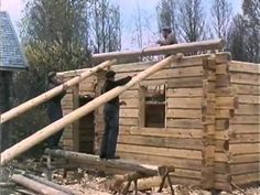 Traditional Finnish Log House Building Process - YouTube