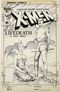 Cover to UNCANNY X-MEN #186 by Barry Windsor-Smith (Loved the art, loved the story.  Still a favorite.)