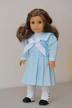 Light blue sailor style summer dress for Samantha or Rebecca