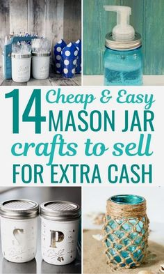 Best mason jar craft ideas to sell for extra money. You will love these creative and easy DIY mason jar business ideas and glass crafts that sell well. Including mason jar candles to sell, soap…More #diymasonjar #masonjarcrafts