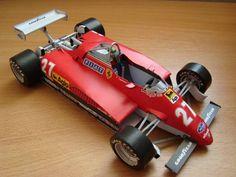 F1 Paper Model - 1982 Germany GP Ferrari 126 C2 Paper Car Free Template Download
