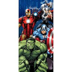 Marvel Avengers Matrix Beach Towel, Blue