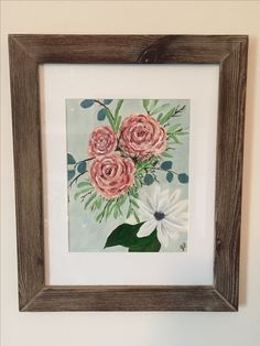 Roses and Magnolia Original Framed Artwork