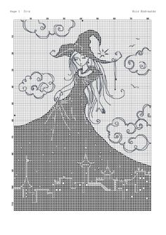 Cross-stitch Skyline Witch, part 2