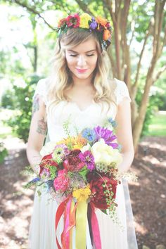 Rae Lynn and Kevin's Bright and Beautiful Boho Wedding in Georgia By Six Hearts Photography Bohemian Chic Weddings, Boho Wedding, Wedding Blog, Floral Wedding, Wedding Colors, Wedding Styles, Wedding Ceremony, Wedding Flowers, Wedding Ideas