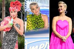 From leopard print to heart-adorned dresses, check out the singer's many looks on the ABC singing competition. Poor Unfortunate Souls, Katy Perry Photos, Singing Competitions, Fashion Idol, Lionel Richie, Make It Rain, American Idol, Pink Hair, Pretty In Pink