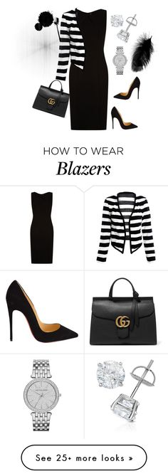"""Untitled #340"" by stylemirror on Polyvore featuring BOSS Hugo Boss, Christian Louboutin, Gucci, Michael Kors, women's clothing, women, female, woman, misses and juniors"