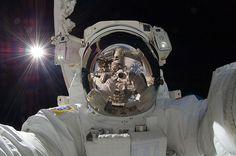 Space selfies: Aki Hoshide