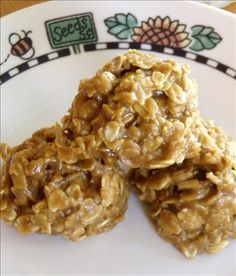 Peanut Butter Oatmeal No Bake Cookies (No Wheat / No Egg) from Food.com: Cookies in five minutes! No wheat or egg so these are great for wheat or egg free diets. A friend gave me the original recipe that called for white sugar and they were great that way. I tried it with brown sugar and that is the ONLY way I'll fix them now! Totally a new level. Only takes 10 minutes total to prepare these.