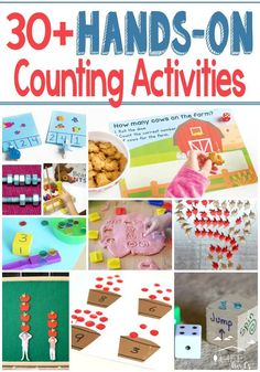 30+ hands-on counting activities for preschool or kindergarten!