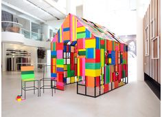 The DIY House installation in Singapore by Asylum is a house made out of items from the hardware store