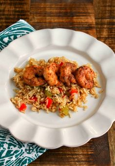 Blackened Shrimp with Cajun rice-great for Lent