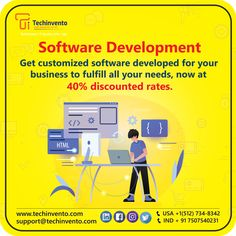 TechInvento IT Services-Top Web, Software & Digital Marketing Company Ios Application Development, Software Development, Programming, Ecommerce, Digital Marketing, Web Design, Android, Apps, Coding