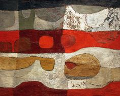 1950s abstract painting by Chippewa Native American artist George Morrison (1919-2000)