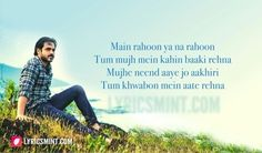 Or may be its just only me who thinks like tat. Song Lyric Quotes, Movie Quotes, True Quotes, Bollywood Movie Songs, Bollywood Quotes, Cool Lyrics, Music Lyrics, Filmy Quotes, Sweet Words