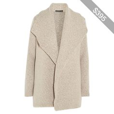 James Perse Wool-blend bouclé cardigan