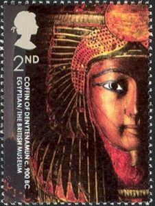 British Stamp - Coffin of Denytenamun, Egyptian, BC. class stamp by Rose Design commemorating the Anniversary of the British Museum, October 2003 Uk Stamps, Rare Stamps, Postage Stamp Design, Postage Stamps, Egyptian Mummies, 17th Century Art, Small Art, Ancient Art, Ancient Egypt