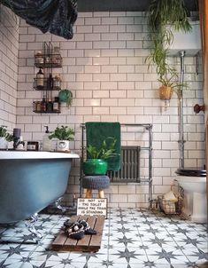 Hardcastle Towers, an Eclectic Colourful Edwardian Home in Yorkshire Eclectic Bathroom, Bathroom Interior, Metro Tiles Bathroom, Cozy Bathroom, Master Bathrooms, Bathroom Inspo, Design Bathroom, Bathroom Colors, Bath Design