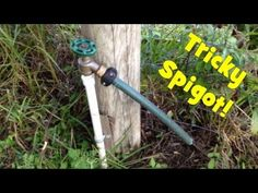 """Unique Geocache: """"Tricky Spigot"""". I like the part that starts at 1:12."""