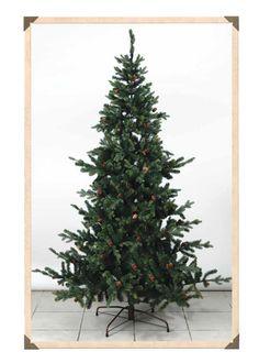 316. Χριστουγεννιάτικο δέντρο - έλατο με κουκουνάρια 210cm (L7000149)