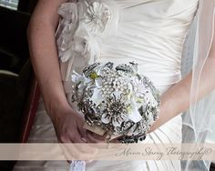 Personal touch custom made diy broche bouquet Regal and elegant