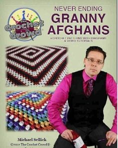 Crochet these never ending granny squares for an easy-to-make granny afghan