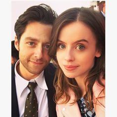 Rosie Day and Richard Rankin at the Audi Polo Event.