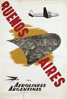 Buenos Aires • Aerolineas Argentinas #travel #poster