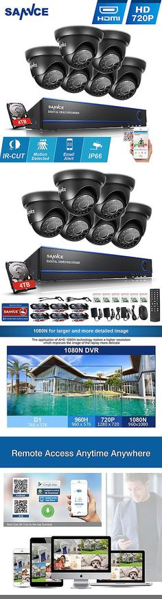 CCTV Systems 159909: Sannce 4Tb Ir Security Cctv Outdoor Camera System Hd 1080N Dvr 16Ch Hdmi Hd P2p -> BUY IT NOW ONLY: $399.98 on eBay!