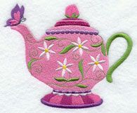 This weekend only through March 3, 2013 Free Teapot and caups. Machine Embroidery Designs at Embroidery Library! - Free Machine Embroidery Designs#