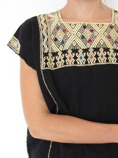 Pure Telar | Mexican Blouse | Black