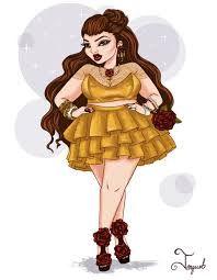 Artist draws modern, curvy versions of Disney princesses - Jonquel Norwood draw. - Artist draws modern, curvy versions of Disney princesses – Jonquel Norwood draws curvy versions -