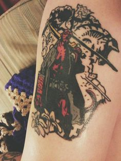 My brand new Hellboy tattoo. Love the work of Mike Mignola.