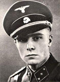 """Waffen SS Standartenführer Joachim Peiper (30 Jan 1915 – 14 Jul 1976) By 1945, youngest SS regt colonel. Convicted war criminal. Murdered France. Knight's Cross on 9 Mar 1943 as SS-Sturmbannführer and commander of the III.(gepanzert)/SS-Pzergrenadier-Regt 2 """"Leibstandarte SS AH""""; 377th Oak Leaves on 27 Jan 1944 as SS-Obersturmbannführer and commander of SS-Pzer-Regt 1 """"Leibstandarte SS AH""""; 119th Swords on 11 Jan 1945 as SS-Obersturmbannführer and commander of SS-Pzer-Regt 1 """"Leibstandarte…"""