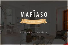Mafiaso - Blog HTML Template by FlyTemplates.com on @Graphicsauthor