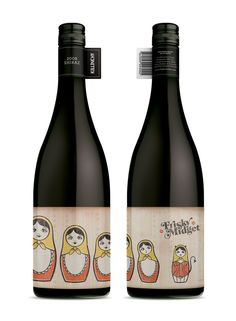 Excellent shelf presence with this #design : Frisky Midget Wines by Lost & Found – http://www.studiolostandfound.com/
