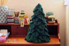 Árbol de Navidad con crochet a trapillo